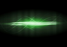 Vector Green Neon Lines