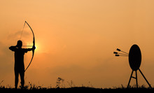 Silhouette Archery Shoots A Bo...