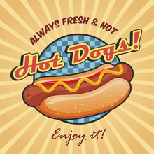 American Hot Dog Poster Template