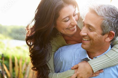 Photo  Loving Hispanic Couple In Countryside