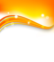 Abstract Orange Wavy Background.