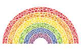 Fototapeta Tęcza - fruit and vegetable rainbow - healthy eating concept