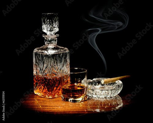 Photo Whisky and a cigar