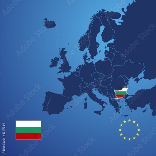 Bulgaria map cover vector Wallpaper Mural