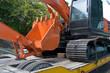 The orange excavator
