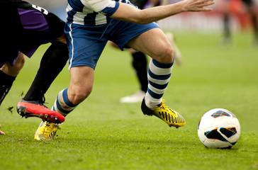 Fototapeta Futbol. Accion de ataque