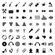 music icon black on white