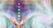 Leinwandbild Motiv Healer and Seven Chakras