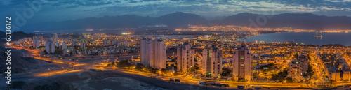 Valokuva Panoramic view on Eilat (Israel) and Aqaba (Jordan)