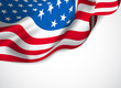 U.S. flag on a white background