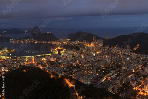 Fotografiet  Night view of Sugarloaf Rio de Janeiro
