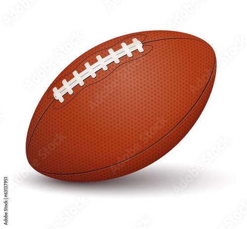 Fotobehang Wintersporten American football ball on white background