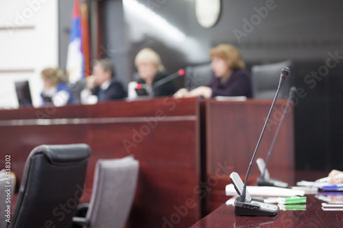 judges at court house Fototapeta