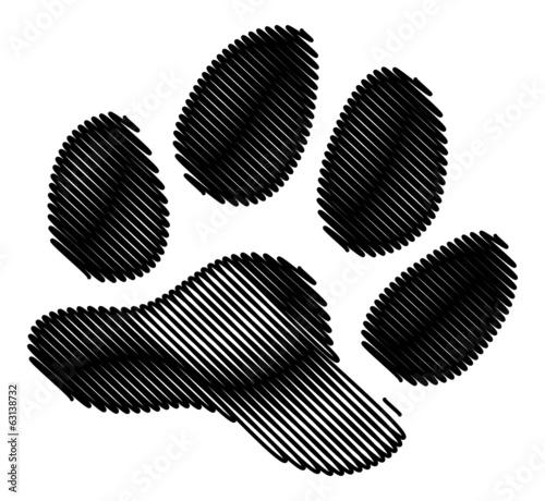 Empreinte Patte De Chien empreinte patte chien - buy this stock vector and explore similar