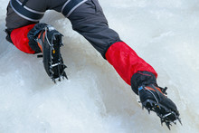 Close View Of Crampons Used Fo...