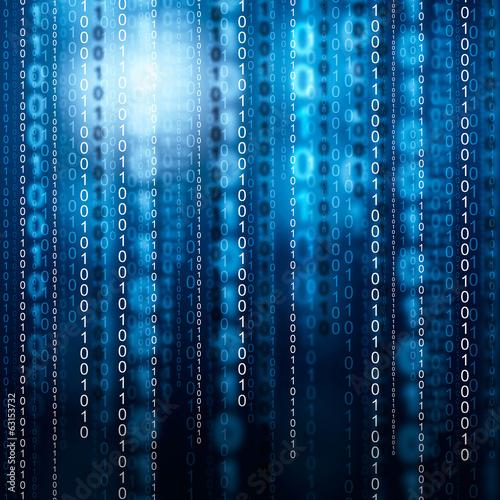 Fotografie, Obraz  Binary code