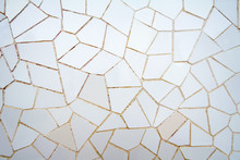 White Ceramic Mosaic Pattern In The Park Guell
