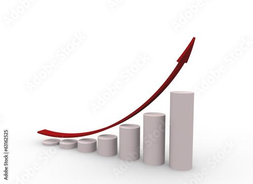 Fotografía  グラフと矢印