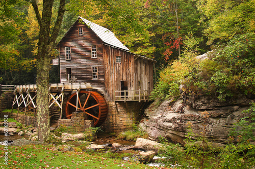 Deurstickers Molens Glade Creek Grist Mill