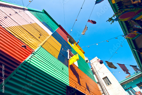 Keuken foto achterwand Buenos Aires Colorful houses in La Boca, Buenos Aires, Argentina