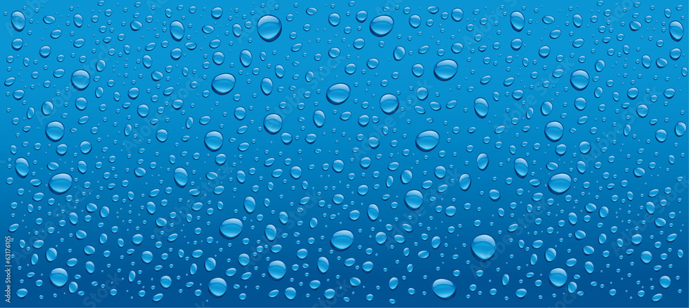 Fototapety, obrazy: water drops on blue background