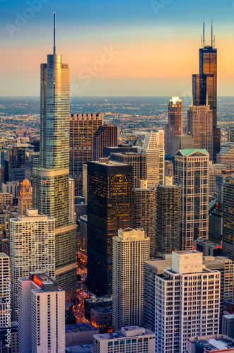 Foto op Canvas Chicago Chicago Dusk