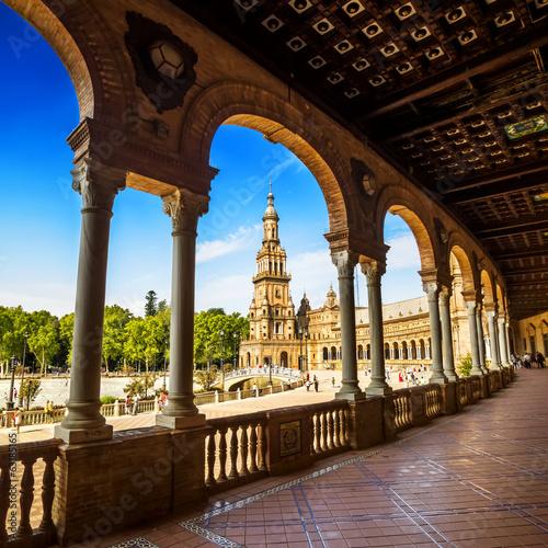 Spanish Square (Plaza de España) in Sevilla, Spain