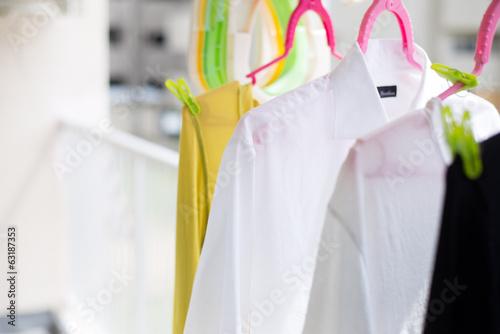 Fotografía  洗濯して干している衣類