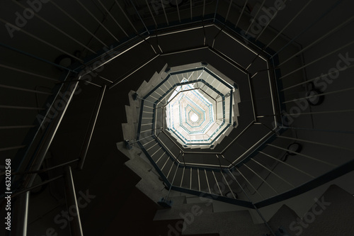 Spiral staircase ,viewed from the bottom