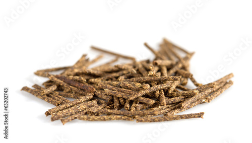Fotografie, Obraz  Herbal moxa acupuncture. Isolated on white background
