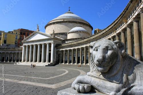 Spoed Foto op Canvas Napels Piazza del Plebiscito à Naples - Italie