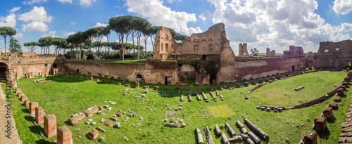 Obraz na plátně  Hippodrome Stadium of Domitian, Palatine Hill Rome