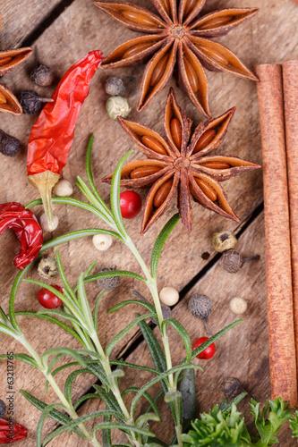Naklejka - mata magnetyczna na lodówkę various spices