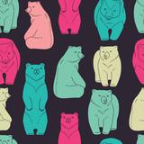 Bears seamless pattern - 63223537