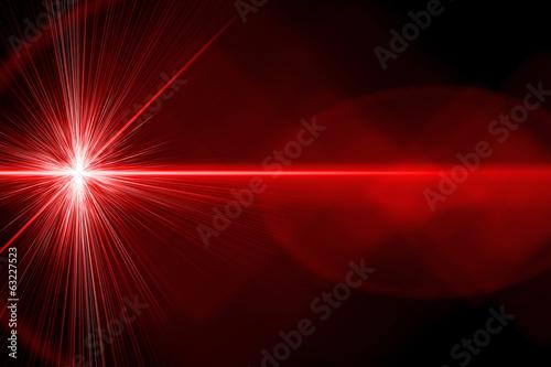 Photo Red laser light