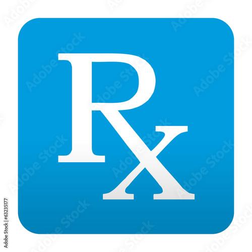 Etiqueta tipo app azul simbolo RX Wallpaper Mural