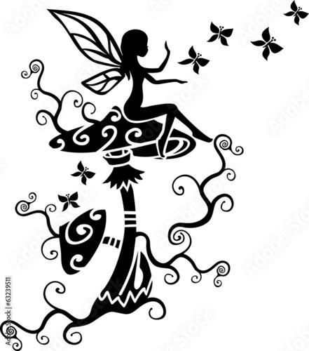 elf-bajki-magiczne-grzyby-motyle-fantasy