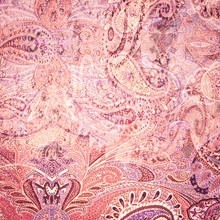 Vintage Faded Paisley Fabric Texture/background