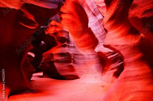 Keuken foto achterwand Rood traf. Beautiful red rocks of Antelope Canyon, Page, Arizona, USA