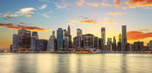 Crépuscule à Manhattan, New ...