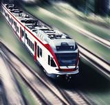 high-speed train in motion blur - 63254525