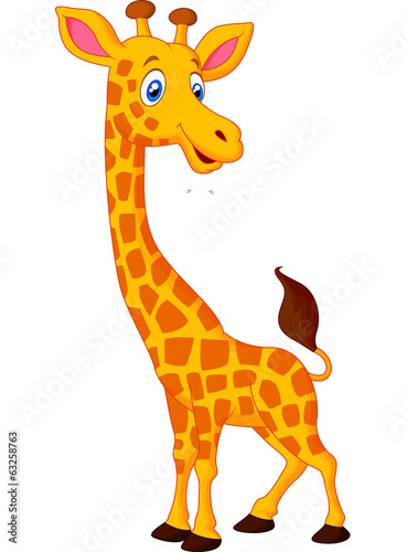 Photo  Happy giraffe cartoon