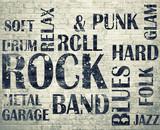 Grunge room Plakat rockowy grunge - 63268577