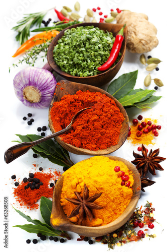 Naklejka - mata magnetyczna na lodówkę Spices and herbs
