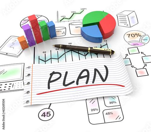 Obraz Marketing planning - fototapety do salonu