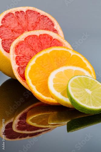 Keuken foto achterwand Plakjes fruit Orangenscheiben