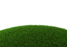 Green Hill Of Grass Isolated O...