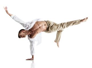 Fototapeta Caucasian male dancer