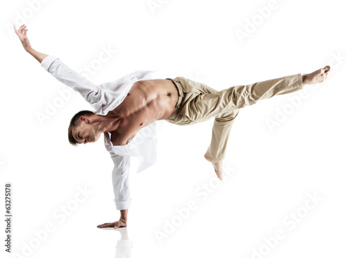 Foto op Aluminium Dance School Caucasian male dancer