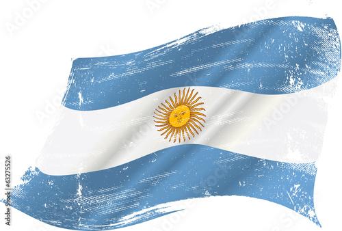 Fotografie, Tablou  Argentinian grunge flag
